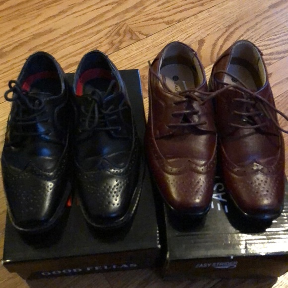 Brow And Black Boys Dress Shoes Size 10 Toddler  5ef677710